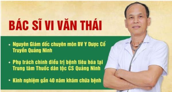 Bác sĩ Vi Văn Thái – Bác sĩ Chuyên khoa I, Nguyên Giám đốc Bệnh viện Y Dược Cổ Truyền Quảng Ninh