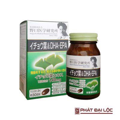 Viên uống bổ não DHA EPA Ginkgo Noguchi 60 viên của Nhật Bản