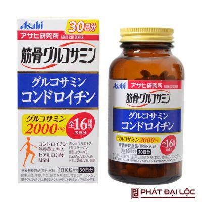 Thuốc bổ xương khớp Glucosamine Chondroitin Asahi 2000mg Nhật Bản hộp 300 viên