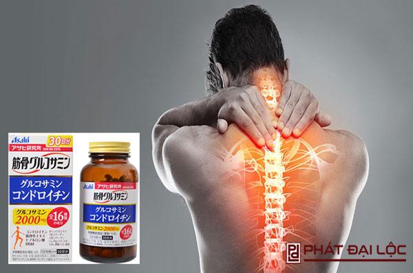 Thuốc bổ xương khớp Glucosamine Chondroitin Asahi 2000mg hỗ trợ điều trị đau khớp, đau bả vai