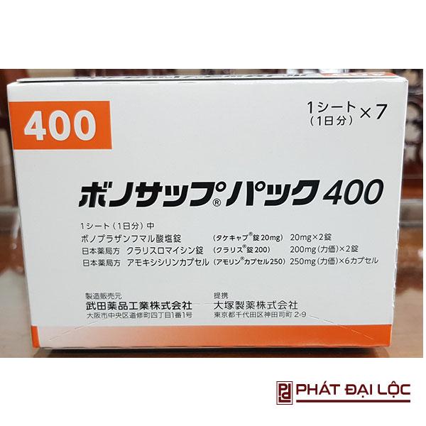 Thuốc đặc trị vi khuẩn dạ dày HP VONOSAP 400 của Nhật