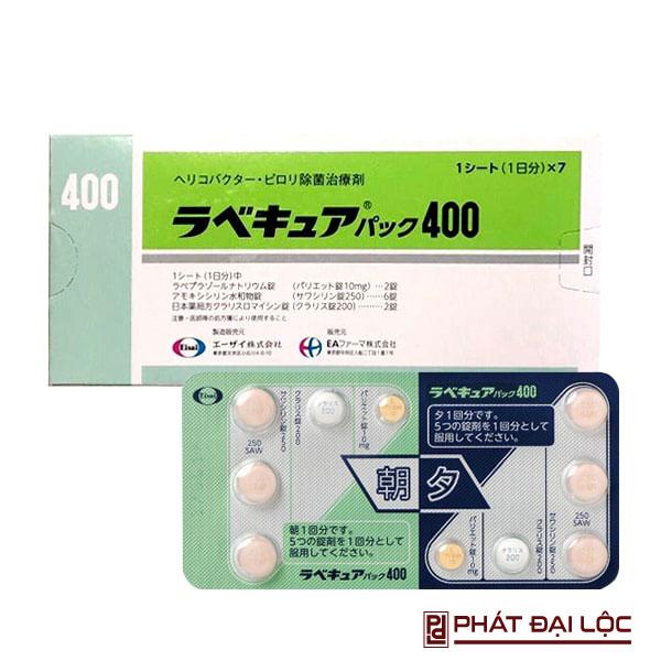 Thuốc trị trào ngược dạ dày HP Rabefine 400 của nhật